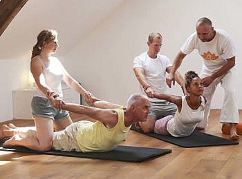 Yoga oefeningen gezamelijk