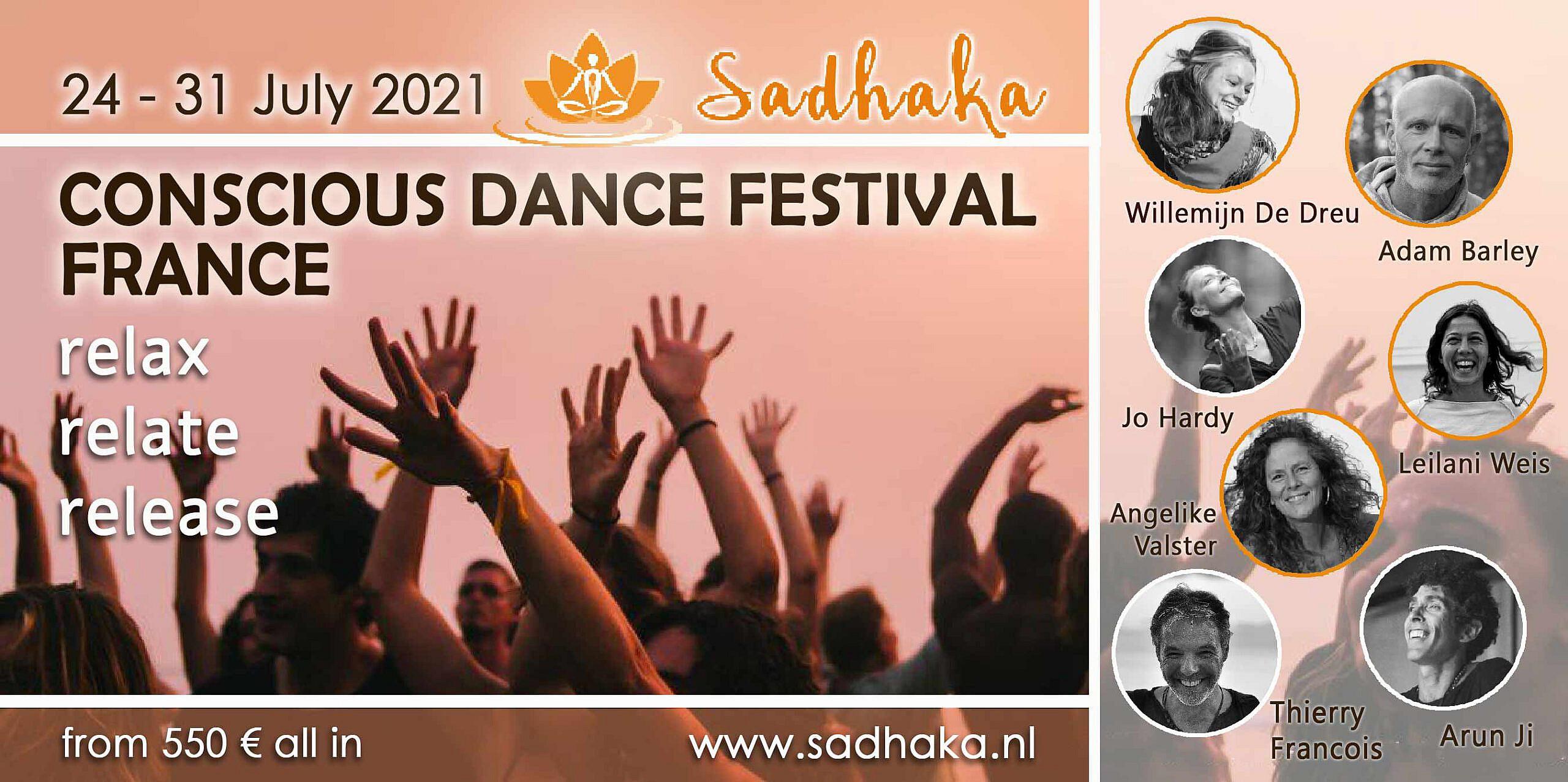 Flyer Conscious Dance Festival Frankrijk 2021