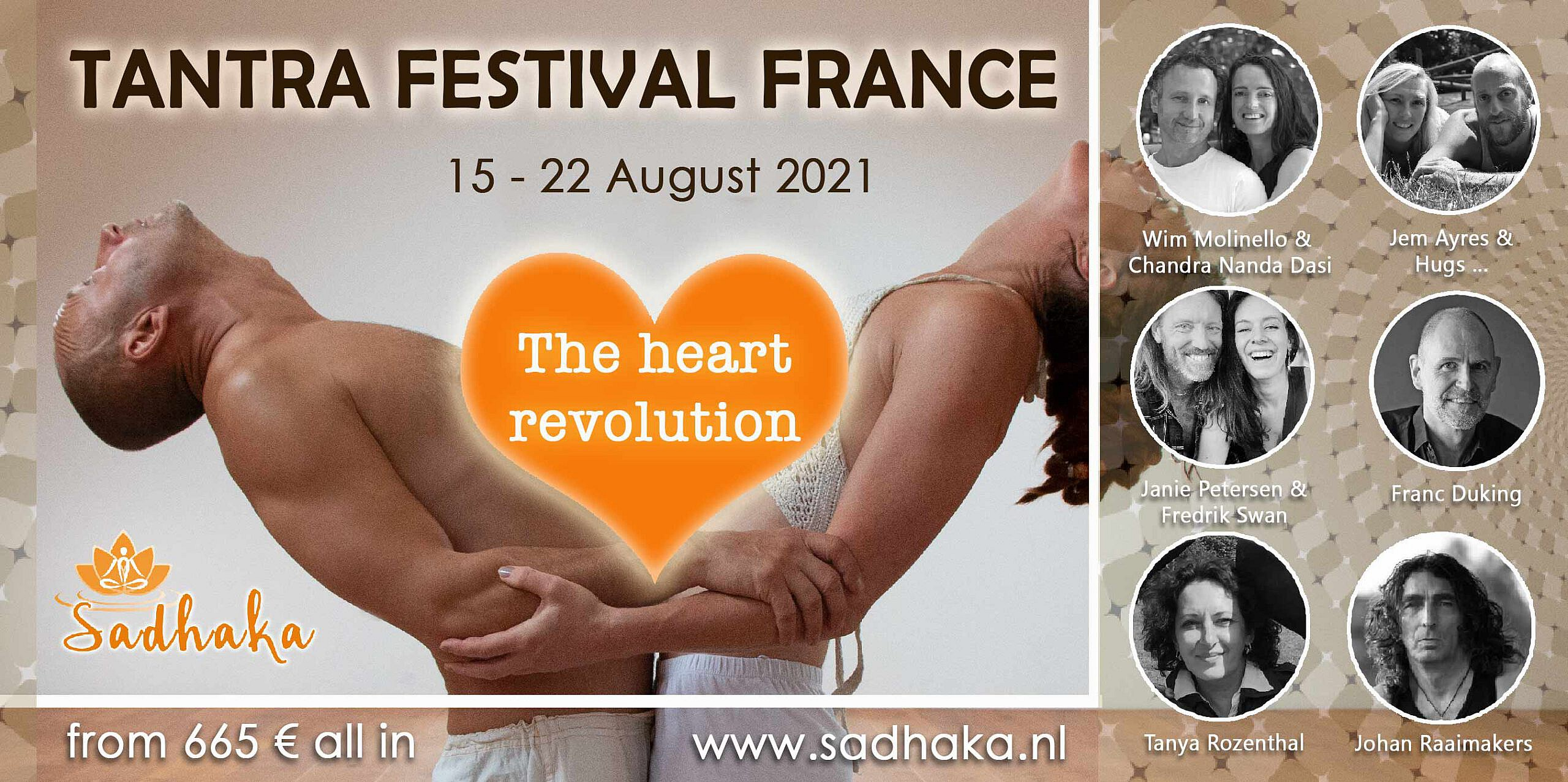 Flyer Tantra Festival 2021 Frankrijk